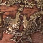 Image of Vintage Brass Bird & Flower 5-Arm Sconces - A Pair