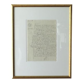 Antique French Winemaker's Document