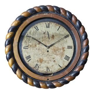 Georgian Irish Wall Clock, Circa 1820