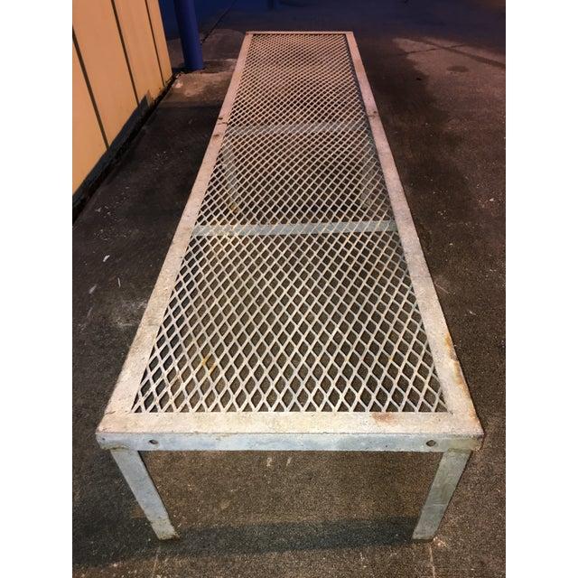 Vintage metal locker room gym bench chairish