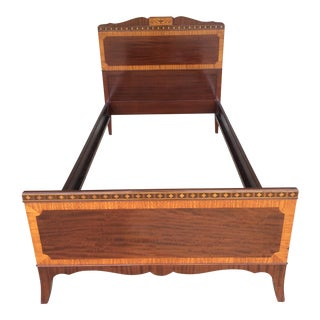 Kindel Quality Adams Style Banded Mahogany Single Bed