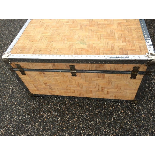 Image of Lightly Cerused Rattan Trunk Coffee Table