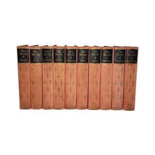 Vintage Classics Books in Red - Set of 10