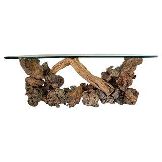 Mid-Century Driftwood Console Table
