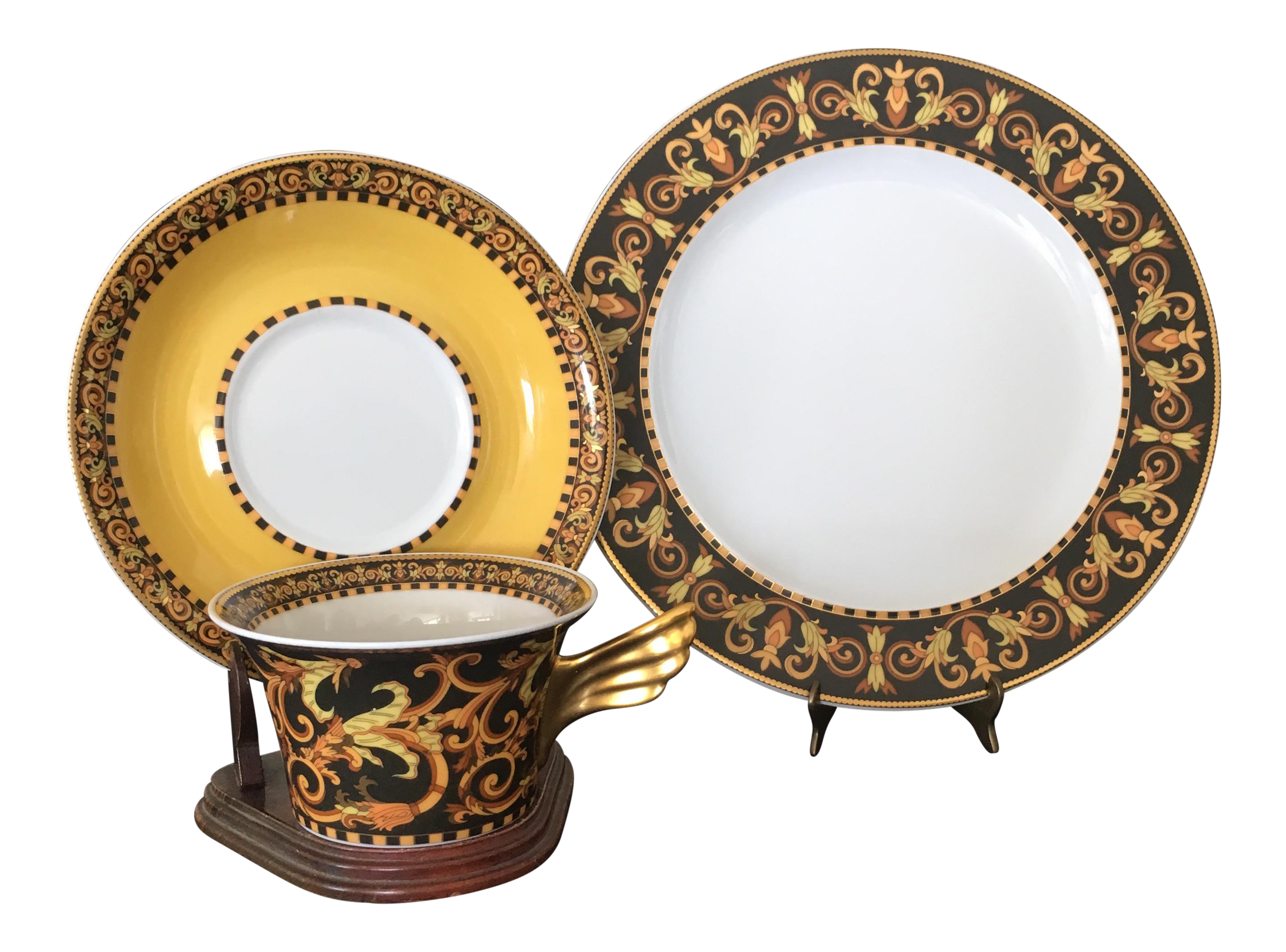 Versace Rosenthal Barocco Design Place Setting - Set of 3  sc 1 st  Chairish & Vintage \u0026 Used Versace Tableware and Barware | Chairish