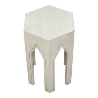 Whitewashed Tabouret Table by Lawson-Fenning