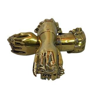 Antique English Victorian Hand Tiebacks - Pair