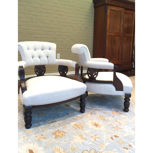 Antique Victorian Tub Chairs - Image 10 of 11