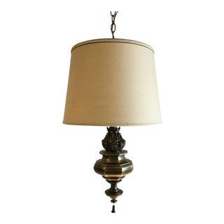 Mid-Century Stiffel Brass Swag Lamp
