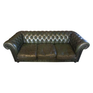 Vintage Green Chesterfield Three Seat Sofa