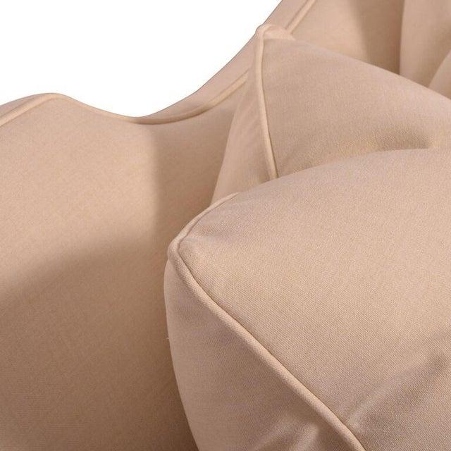 Baker Furniture Ivory Throw Pillow Sofa - Image 3 of 3