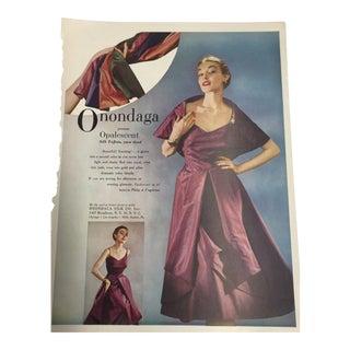 Vintage 1948 Onondaga Silks Ad Print