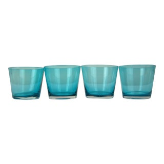 Turquoise Lowballs - Set of 4