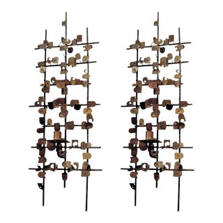 Pair of Mid-Century Wall-mounted Sculptures by Jean Mahan