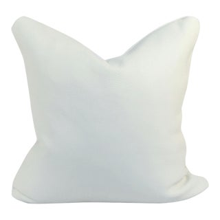 White Genuine Leather Pillow