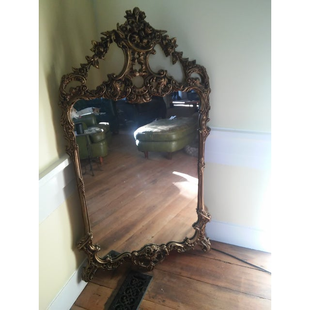 Image of 1940s French Gilt Wood Mirror