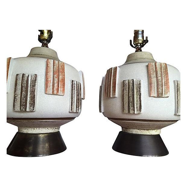 Mid-Century Modern Table Lamps - A Pair - Image 3 of 4