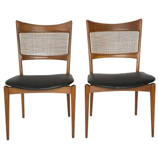 Edmund Spence Style Woven Back Chairs - a Pair