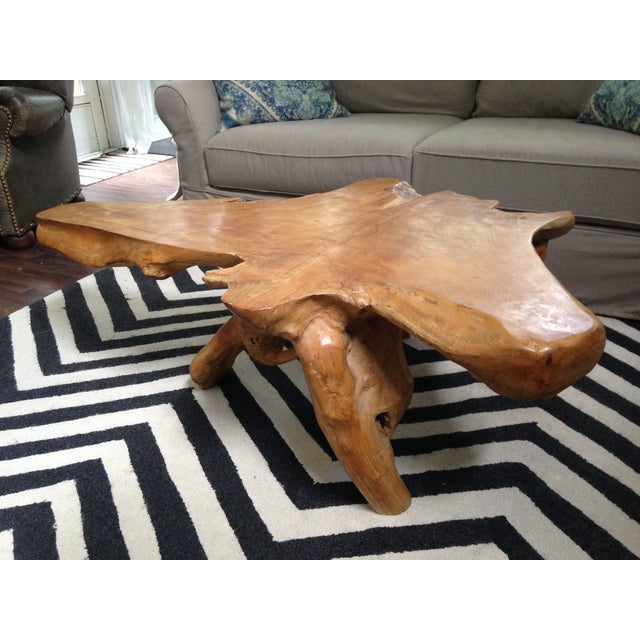 Natura Root Round Coffee Table Condo Size: Vintage Teak Root Coffee Table