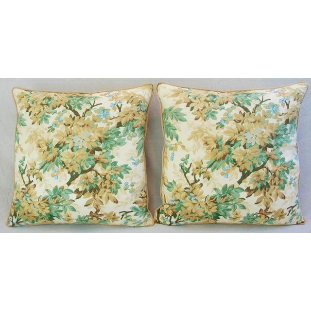 Designer Brunschwig & Fils Foliage Pillows - Pair - Image 4 of 11