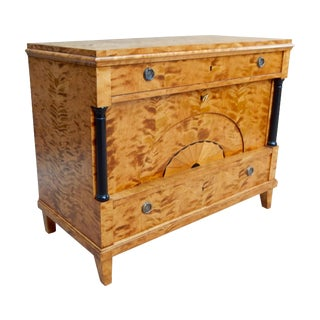 Swedish Biedermeier Revival Bar Cabinet Chest 1920