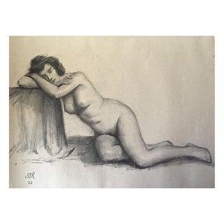 J. Mason Reeves Original Nude Pencil Drawing 1962