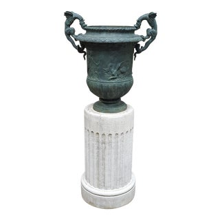 Dragon Urn on Pedestal