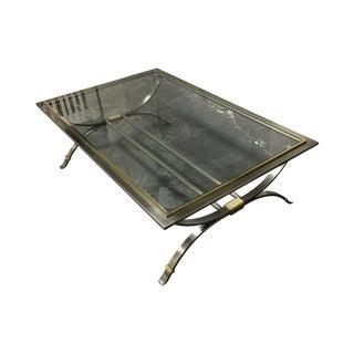 Steel + Brass Coffee Table