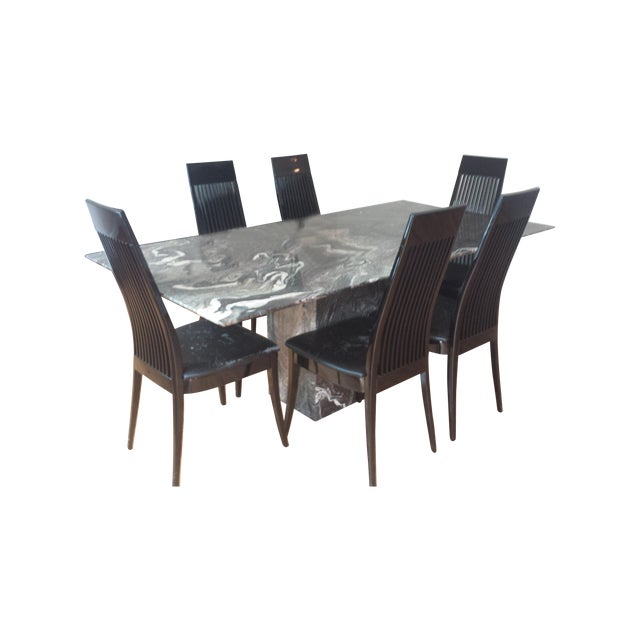 Roche Bobois Italian Marble Dining Set - Image 1 of 9