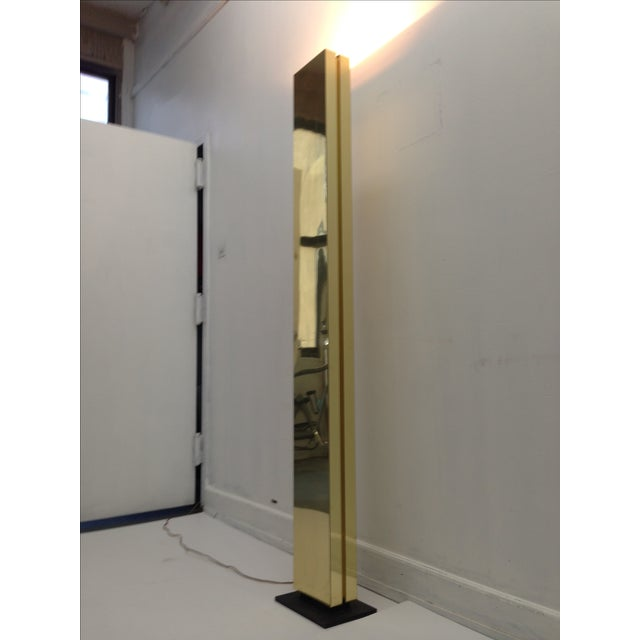 Image of 6 Ft Brass Column Lamp by George Kovak