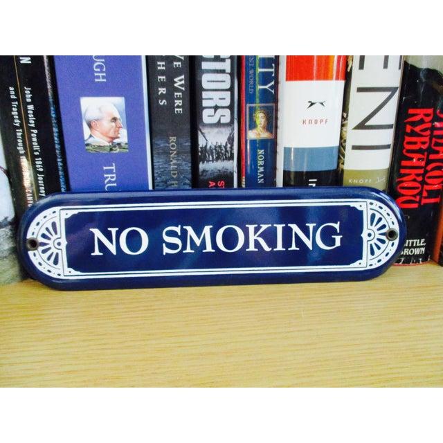 """Enamel Porcelain """"No Smoking"""" Sign - Image 3 of 7"""