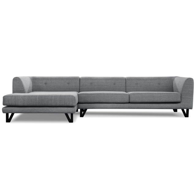 Sarreid LTD Bella Donna Gray Sectional Chaise - Image 2 of 6