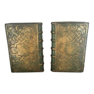 Borghese Green and Gold Book Bookends - a Pair