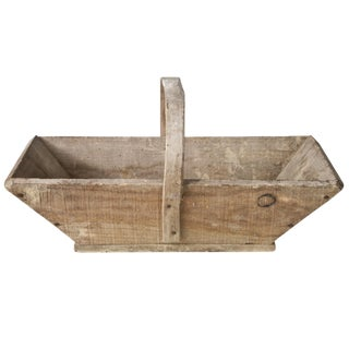 Vintage French Wooden Garden Trug Basket