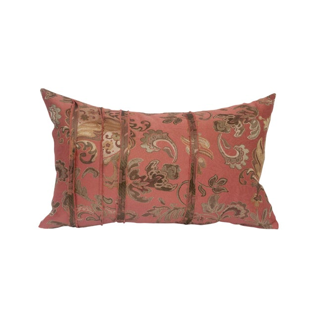Pink and Gold Deconstructed Pillow - Image 1 of 5