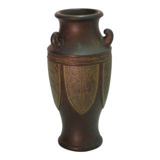 Japanese Bronze Tone Vase