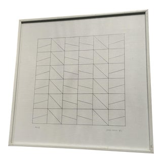 James Kelly 1971 Minimalist Abstract Drawing (Pd I)