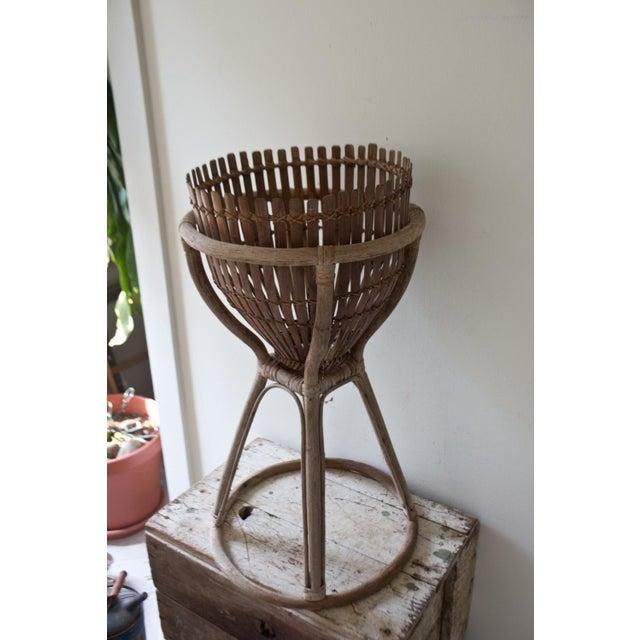 Image of Vintage Wooden Plant Stand Holder