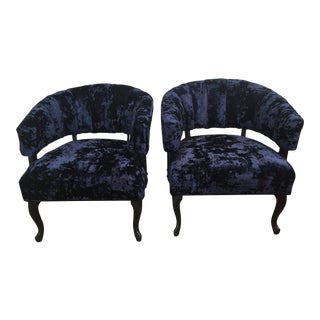 Mid-Century Modern Custom Upholstered Barrel Chairs- a Pair (Final Markdown!)