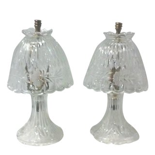 Cut Crystal Accent Lamps - Pair
