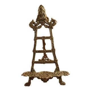 Vintage Art Nouveau Brass Table Easel