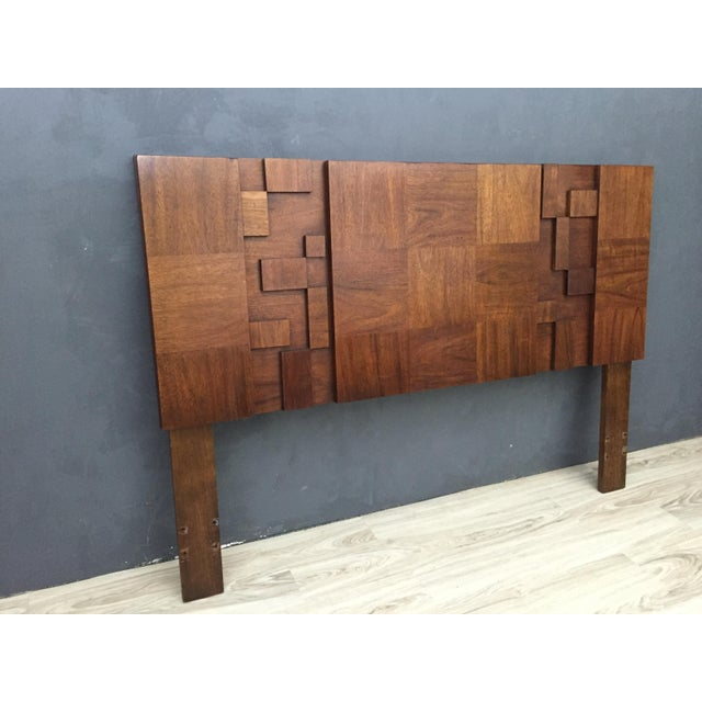 "Mid-Century Lane Brutalist ""Mosaic"" Highboy Bureau - Image 6 of 8"
