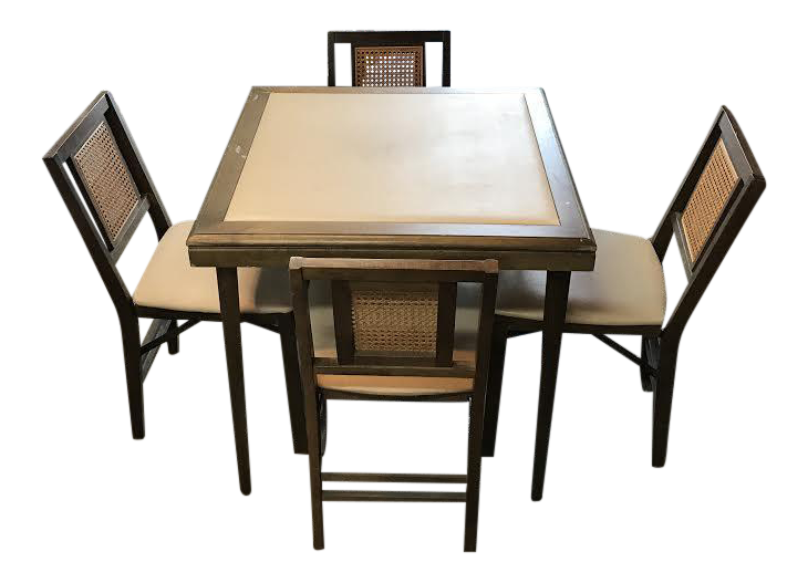 stakmore folding table chairs chairish