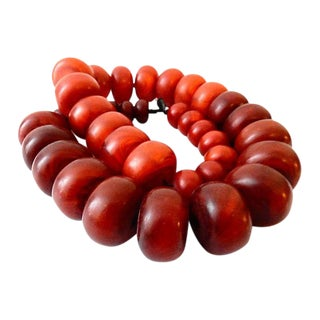 Moroccan Currency Amber Graduated Beads