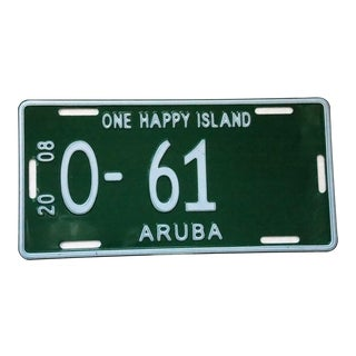 Aruba Authentic License Plate