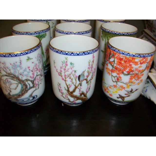 Franklin Mint Japanese Style Porcelain Tea Set - Image 9 of 11
