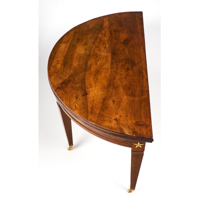 Image of French Directoire Folding Demilune Table