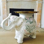 Image of 1960's Chinoiserie Elephant Side Table