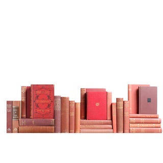 Decorative Burgundy Classic Books - Set of 25