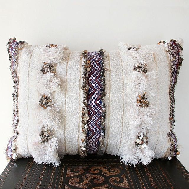 Moroccan Handira Wedding Blanket Pillow VII - Image 8 of 8